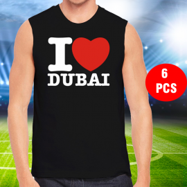 6 Pcs High quality Sleev Less Dubai T-shirt, T886