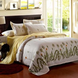 Canoone Fashion Floral Pure Cotton Duvet 6 Piece Bedding Set, A3215