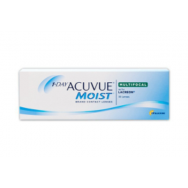 1-Day Acuvue Moist Contact Lenses For Daily Wear 30 Pack With Lacreon, L30
