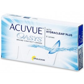 Acuvue Oasys Contact Lenses Hydraclear Plus 6 Pcs Lens Pack, A6