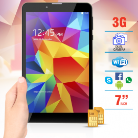 FUN TAB F001, 3G Tablet 7 inch, Android 4.4.2, 4GB, 512MB, WiFi, Bluetooth, Dual SIM, Quad Core, Dual Camera