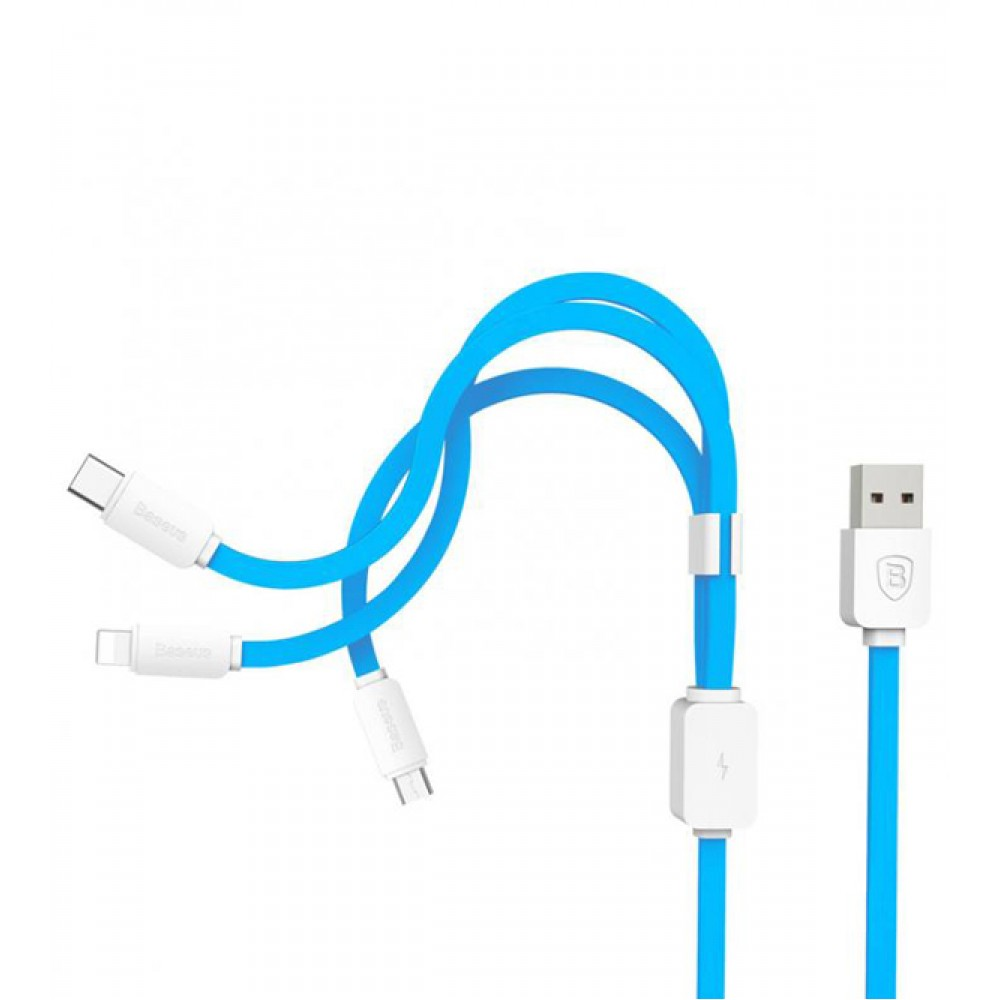 Baseus String Series Micro Usb Lightning Type C Cable Blue Wiring