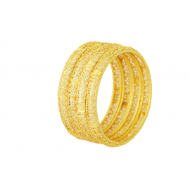 Bosky 18K Gold Plated Bangles-4Pcs,B-41
