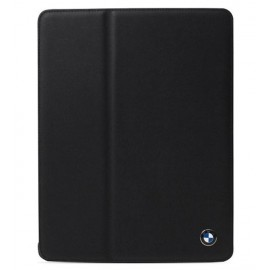 BMW Real Black Leather Folio Case For iPad 2, 3 & iPad 4, BMFCNPLB