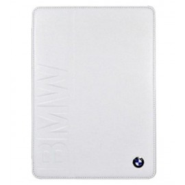 BMW Real White Leather Folio Case For iPad Air 1 & 2, BMFCD5LOW