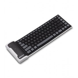 Waterproof Foldable Wireless Bluetooth Keyboard For Apple & Android Tablet & Smartphones, Black