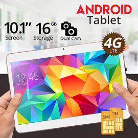 iTouch S1002, Tablet 10.1 inch, Android 5.1, 16GB, 4G, Wi-Fi, 2GB DDR3, Quad Core, Dual SIM, Dual Camera,Gold