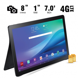 BSNL A-10, Tablet 7 inch, Android 4.4, 8GB, Dual Core, 4G LTE, Dual Camera, White