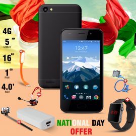 National Day Offer, Crescent Cube1, Mobile Holder, Macra Digital Unisex Watch, Portable USB LED Lamp, Sky Dude Headphone, Selfie Stick, Smart powerbank