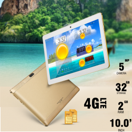 FUN TAB F1, 4G Tablet 10 inch, Android 4.4.2, 32GB, 2GB, WiFi, Bluetooth, Dual SIM, Quad Core, Dual Camera