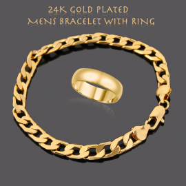 Buy 2 In 1 Milano Jewelry 24K Gold Plated Italian ..