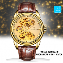 Fngeen Automatic Mechanical Men'S Wrist Watch Hollow Out Dial, L668