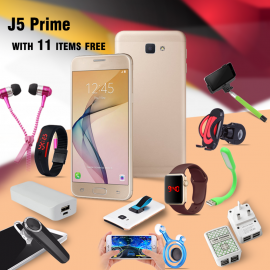 12 In 1 Bundle Offers H-mobile j5 prime, Rotating Holder , 20000mAh Power Bank, Adapter 4-Port, BSNL A17 Headset, Zipper Earphones, Macra Watch, Selfie Stick, Mobile Phone Grip, LED Lamp for Power Bank, LED Band Watch, Universal Car Mount, SM869