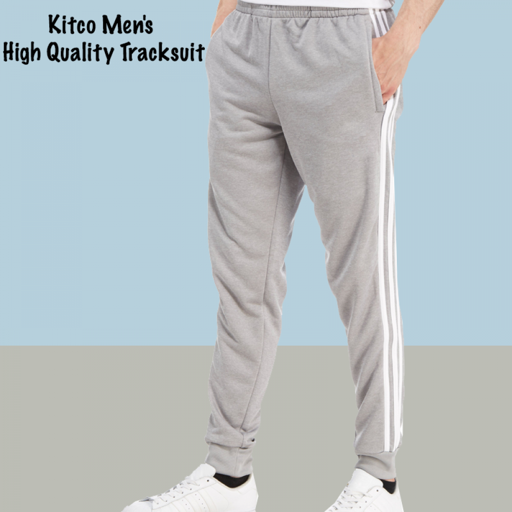 Kitco Men's High Quality 2 pcs Tracksuit, Light Gray, SC592