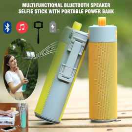 Multifunctional Bluetooth Speaker Selfie Stick with Portable Power Bank,Wireless Self Timer, SSP3