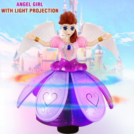 Angel Girl With Light Projection B/O 3+ Ages, WPLD..