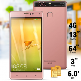 "Kailinuo K9Plus, Smartphone, 4G/LTE, Dual sim, Dual camera,6"" IPS,Finger touch,Android 6.0,3500 Mah,1.7 ghz Core,Rose Gold"