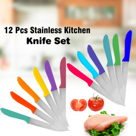 Fuxwell 12 Pcs Stainless Kitchen Knife Set, D12