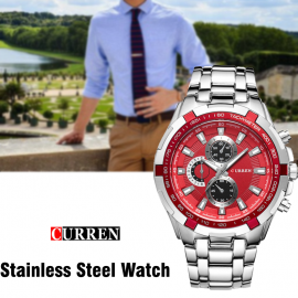 Curren Stainless Steel Watch For Men,8023,Silver ..