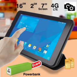 BSNL A21, 7 inch IPS Tablet, 16GB, 2GB DDR3, 4G LTE, Dual Camera, With Free Flip Cover & Powerbank