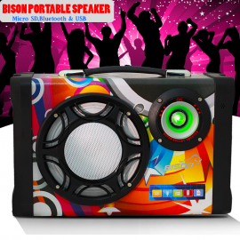 Bison Parlante Multim Ms-158bt-b Bluetooth Usb Sd Fm Led Karaoke