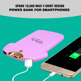 Spark 10,000 mAh T-Shirt Design Power Bank For Smartphones (SP-993)