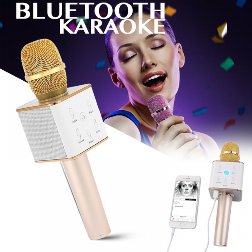 Image result for MULTI-FUNCTIONAL WIRELESS BLUETOOTH KARAOKE MICROPHONE/SPEAKER HANDHELD MIC