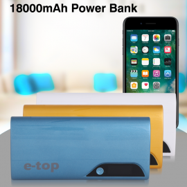 E-TOP 18000mAh Power Bank For Smartphones & Tablets, ET-502