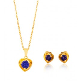 22K MILANO INDISH NECKLACE & EARINGS ML-34181
