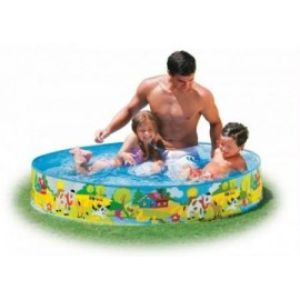 Intex happy animal clear view snap set swimming pool, 58474