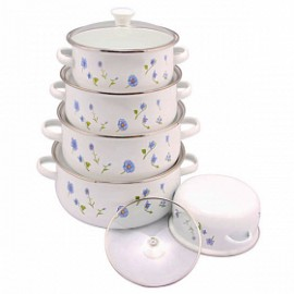 Olympia 10 Pcs Casserole Set With Glass Cover, OE0..