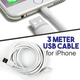 3 Meter Lightning USB Cable for iPhone, White