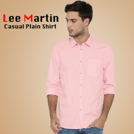 2 Pcs Lee Martin Light Pink Slim Fit Formal Cotton Shirt, LP1501