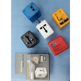 All In One Usb Travel Adapter With 4 Pin & 2 USB, Multi Plug, 4IN1